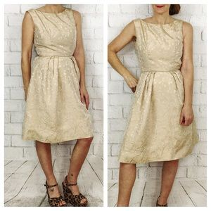 Vintage 50's Party Dress! Cream XS 0-2